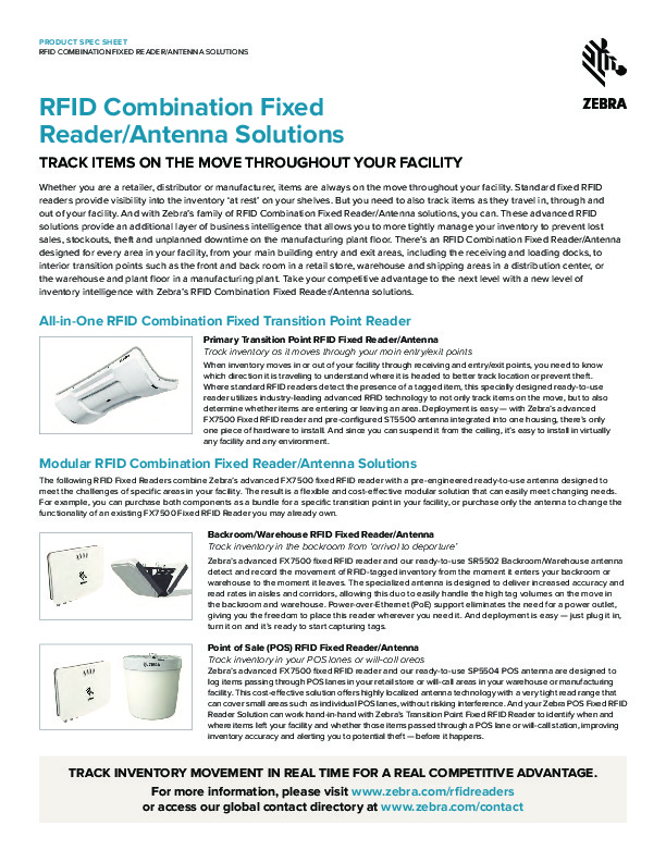 RFID Fixed Reader/Antenna – Dolphin Data Capture